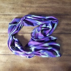 Accessories - Purple and green pattern scarf